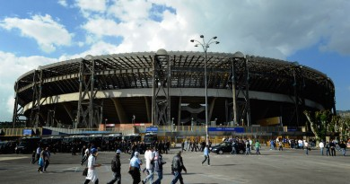 NAPOLI, ITALY - OCTOBER 21:  A General View of the Stadio San Paolo on October 21, 2010 in Napoli, Italy  (Photo by Claudio Villa/Getty Images)