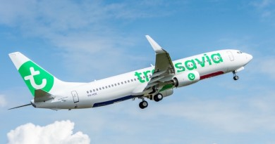 Transavia TAV-YT196 737-800 Delivery Ribbon Cutting and Flyaway