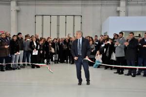 Capua (CE): Inaugurazione della stabilimento CitemaF. Floro Flores al taglio del nastro