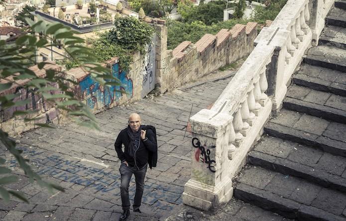 Napoli,Neapel,Naples mit Carmine Maturo, Legambiente Aktivist, mit dem BMW E-Scooter