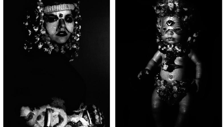 Barbara La Ragione, titolo opera Biancabella con Bambino,  dittico, 2006, stampa ai sali d'argento, dimensione 60 x 40 cm cad, ed  3