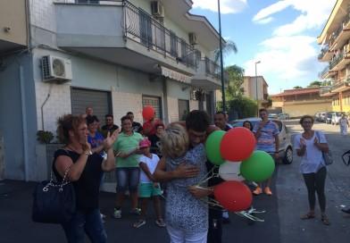 Bagno di folla a Ponticelli per l'Olimpionico Velotto