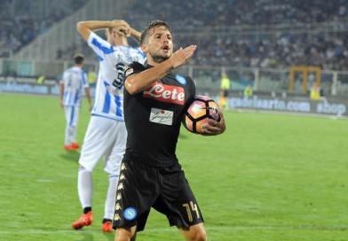 Mertens salva il Napoli a Pescara ma l'arbitro…