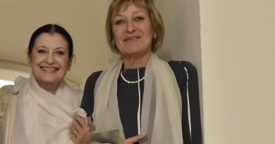 Carla Fracci con Rosanna Purchia