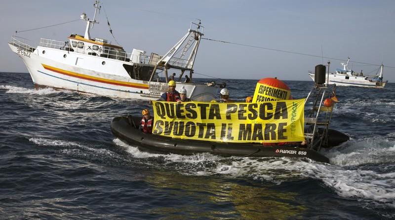 Greenpeace, flash mob a Napoli per la pesca sostenibile