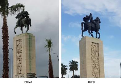 Prima e dopo, ecco il nuovo monumento equestre dedicato ad Armando Diaz