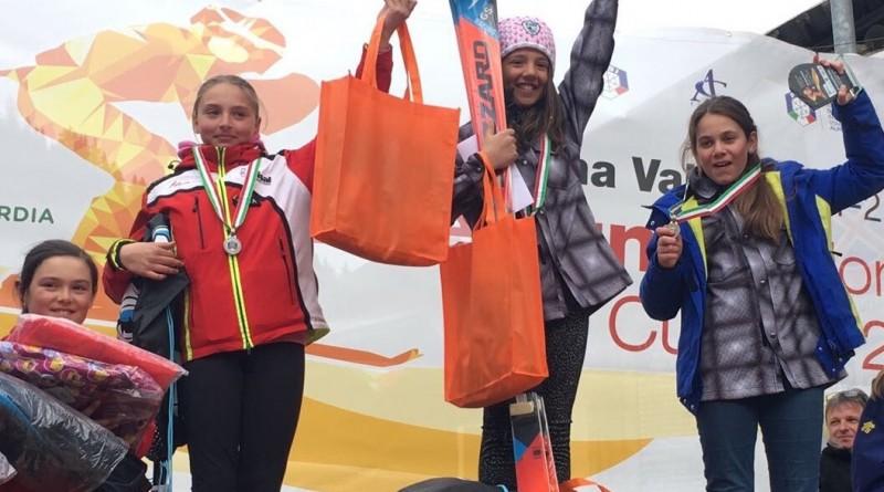 Carlotta Caloro 3° sul podio