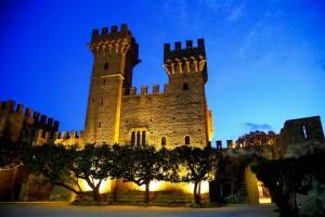 Castello Lancellotti di Lauro illuminato