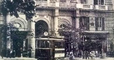 Vomero, piazza Vanvitelli con tram n. 7