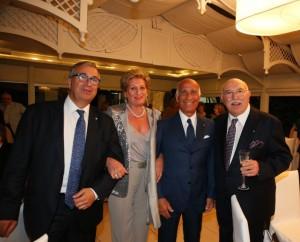da dx, Coppola-Sticchi Damiani con la moglie Rosa-Tufarelli