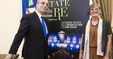 Antonio Marzullo direttore artistico Un'Estate da Re e Rosanna Purchia Soprintendente Teatro San Carlo