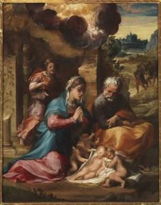 Michelangelo Anselmi Adorazione Q 126 cm 60x81 Napoli, Museo e Real Bosco di Capodimonte