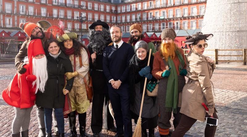 Delegaci¢n europea de la Navidad en Plaza Mayor