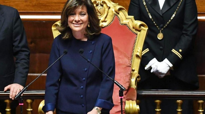 Il presidente del Senato Maria Elisabetta Alberti Casellati