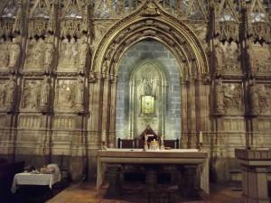 l'altare del Santo Graal