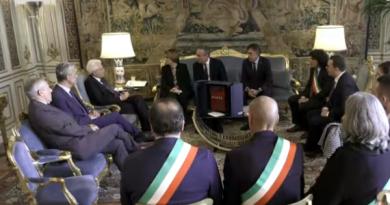 Poste Italiane, il Presidente Mattarella incontra i sindaci Anci al Quirinale