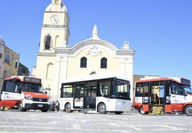 Procida 2022, in prova il primo bus elettrico